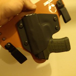 This is a new Hybrid Style Alien Gear Holster.