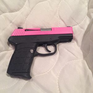 Right side view Custom Pink Cerakote PF9